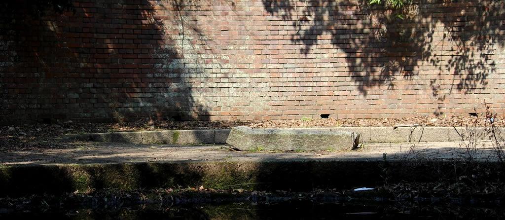 第三砲台跡の壁面